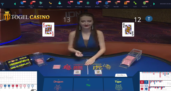 Live Games Casino Online Dragon Tiger