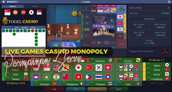 Live Games Casino Online Monopoly