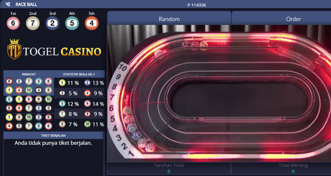 Live Games Casino Online Race Ball